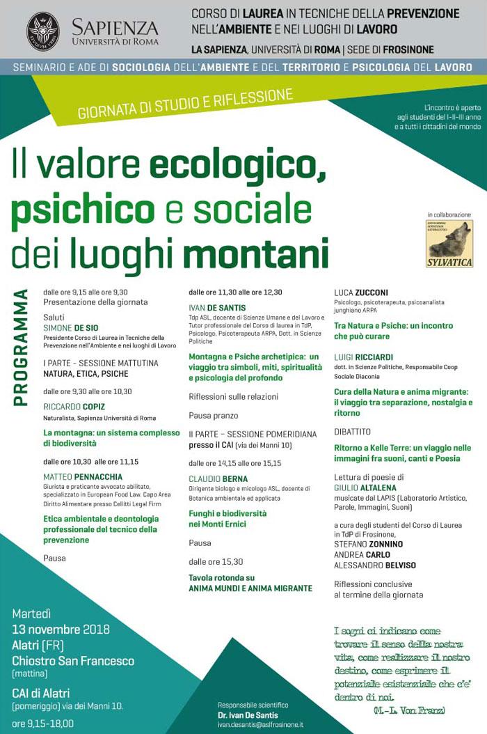 Il valore ecologico, psichico e sociale dei luoghi montani
